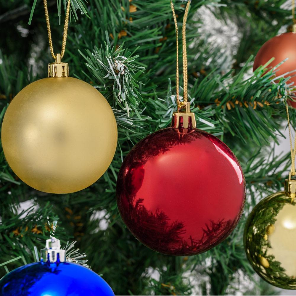 weihnachtskugeln baumschmuck christbaumkugeln weihnachtsdekoration 66 103er set ebay. Black Bedroom Furniture Sets. Home Design Ideas