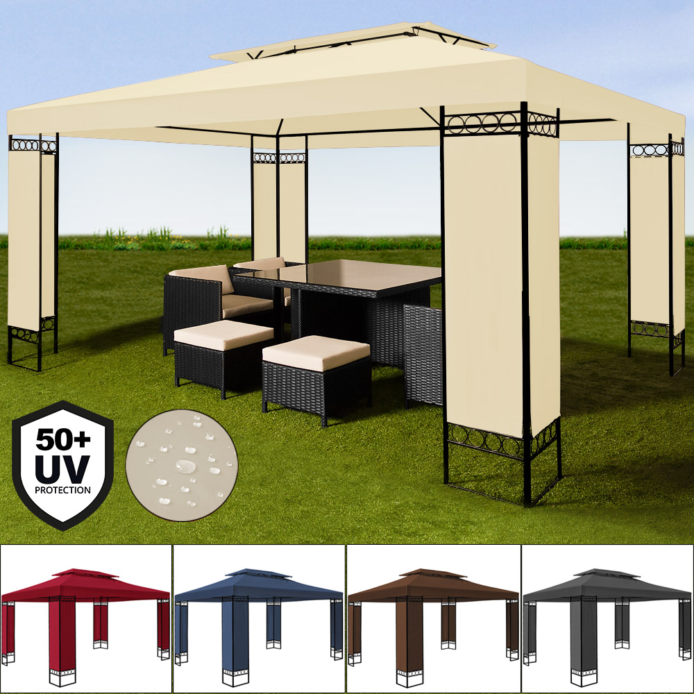 deuba pavillon capri 3x3m faltpavillon popup partyzelt gartenzelt uv schutz 50 ebay. Black Bedroom Furniture Sets. Home Design Ideas