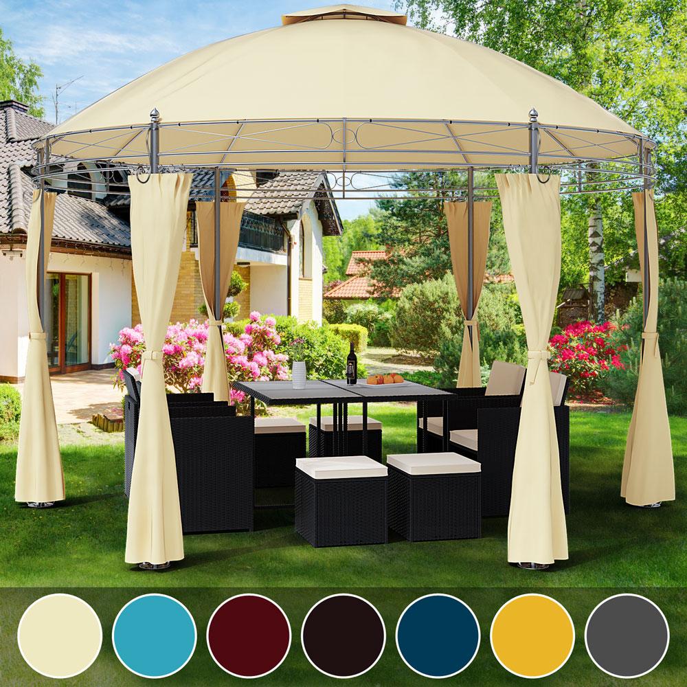 Details about Garden Gazebo Ø350cm Round Party Tent Outdoor Marquee Wedding  Pop Up Canopy