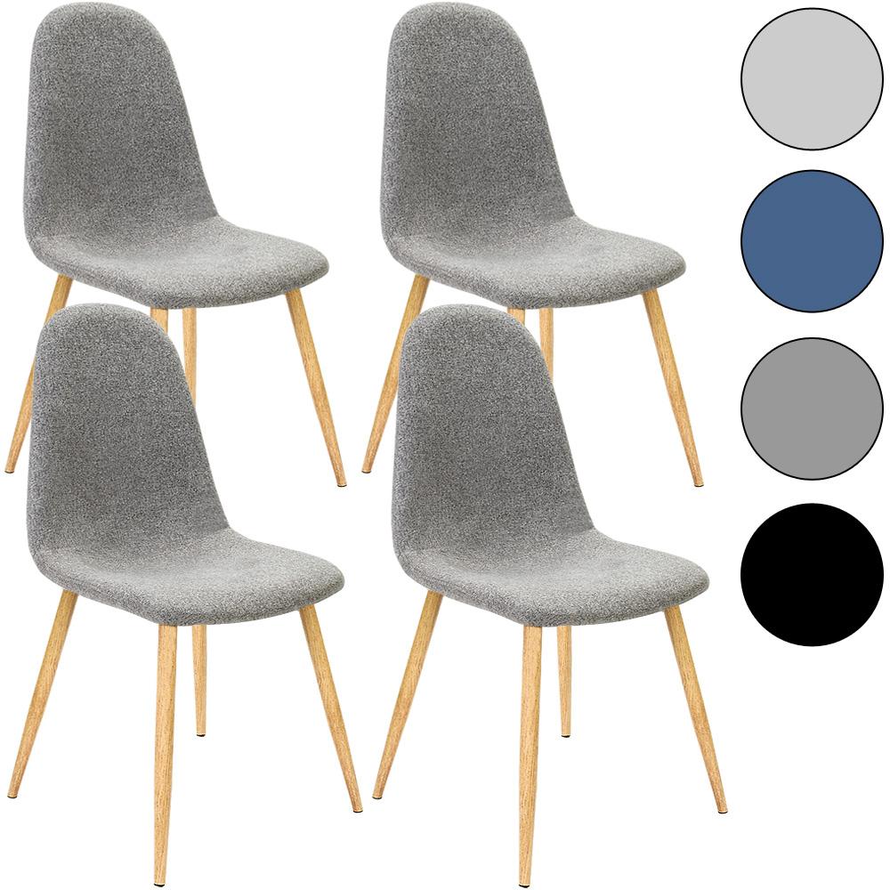 4x Deuba Esszimmerstühle Esszimmerstuhl Design Stuhl Retro Stühle ...