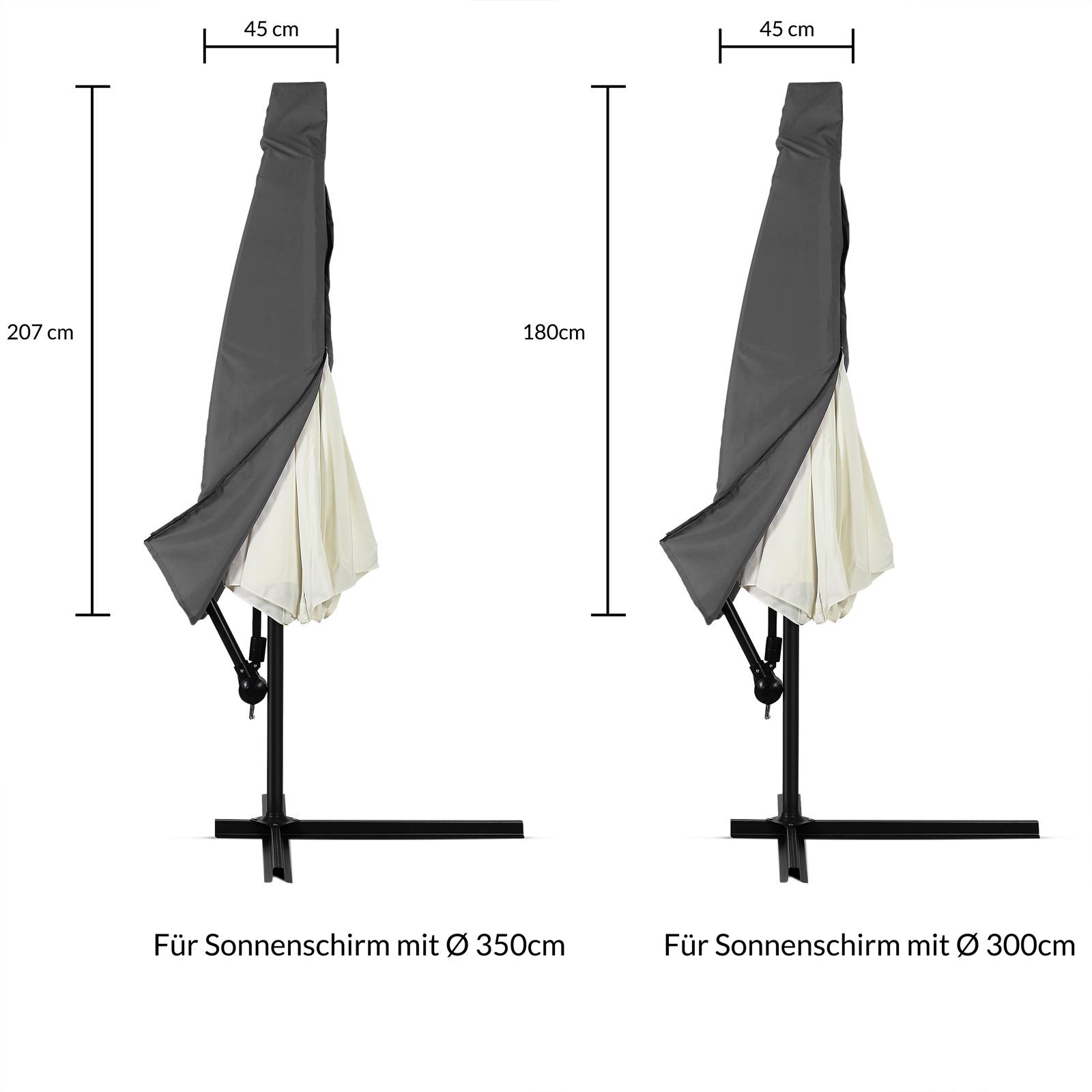 schutzh lle schirmhaube abdeckung sonnenschirm schutzh lle polyester haube ebay. Black Bedroom Furniture Sets. Home Design Ideas
