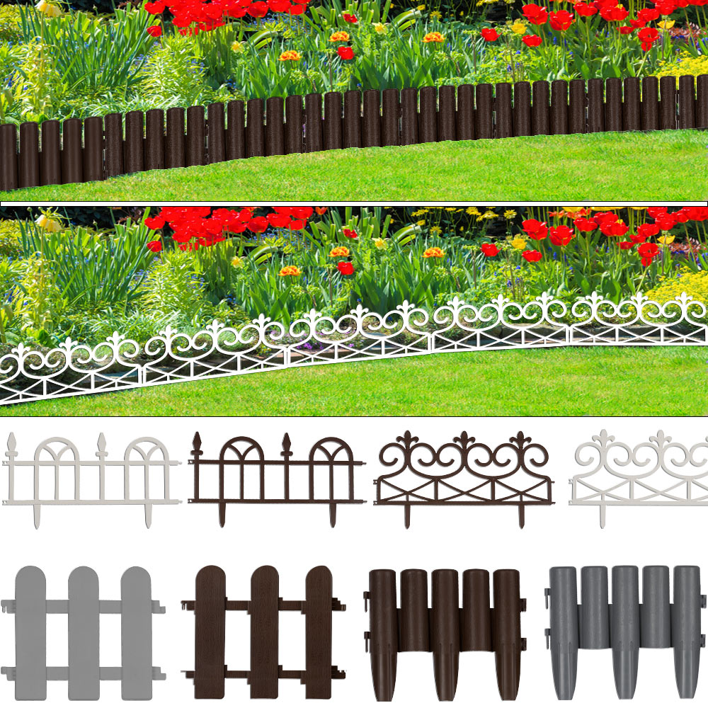 Set Bordures De D Limitation Set De 4 Bordures Jardin Fleurs  # Bordure De Jardin Suisse
