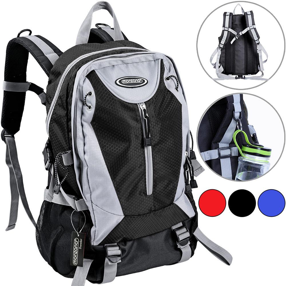 sac dos monzana sac cole sport randonn e voyage camping 40l coloris au choix ebay. Black Bedroom Furniture Sets. Home Design Ideas