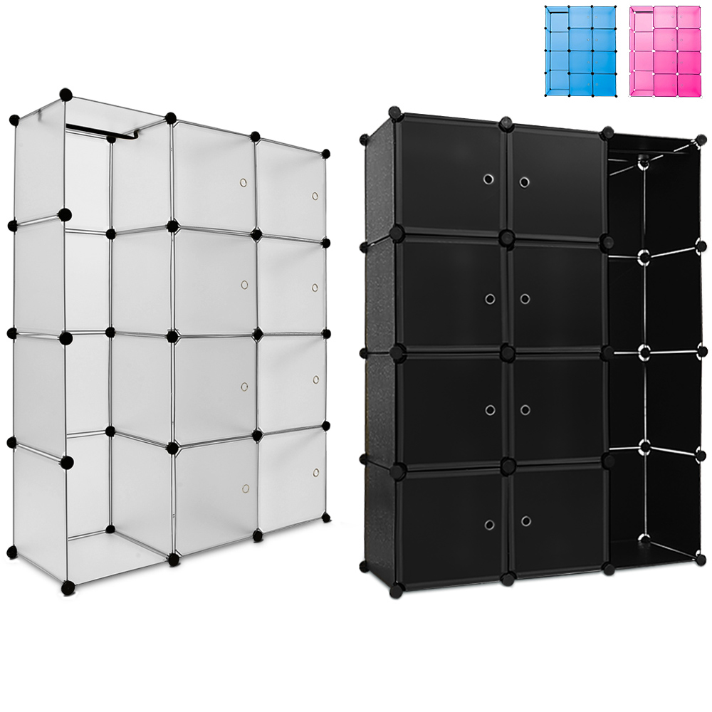 etag res armoire penderie rangement plastique 8 casiers 1. Black Bedroom Furniture Sets. Home Design Ideas