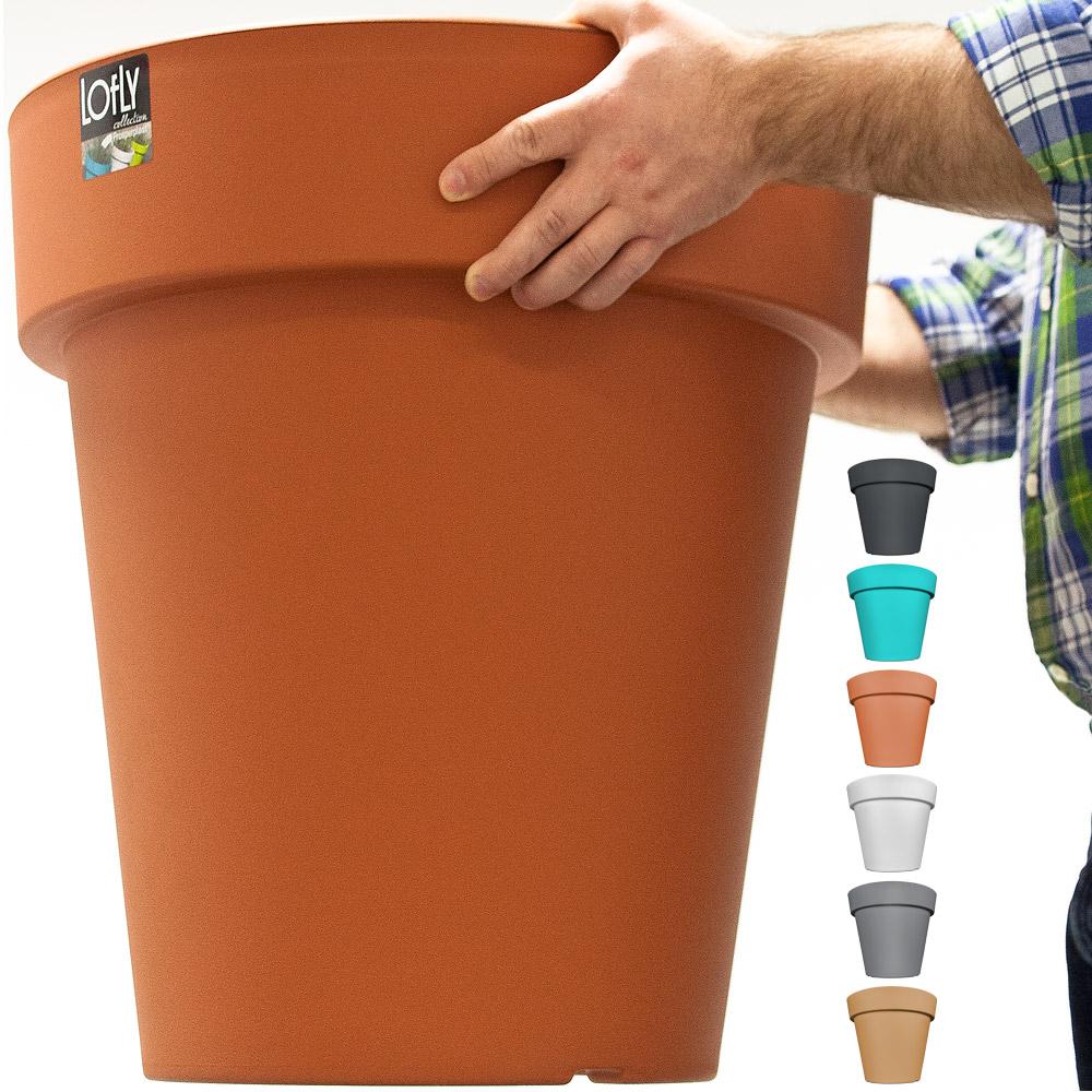 Pot de fleurs plantes jardini re xxl jardin plantation 49cm choix coloris ebay - Jardiniere xxl ...