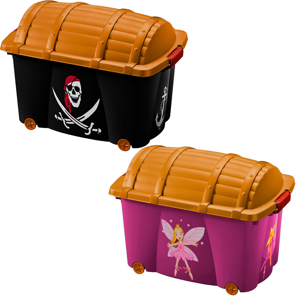 bo te de rangement motif pirate f e avec couvercle jouets enfants v tements ebay. Black Bedroom Furniture Sets. Home Design Ideas