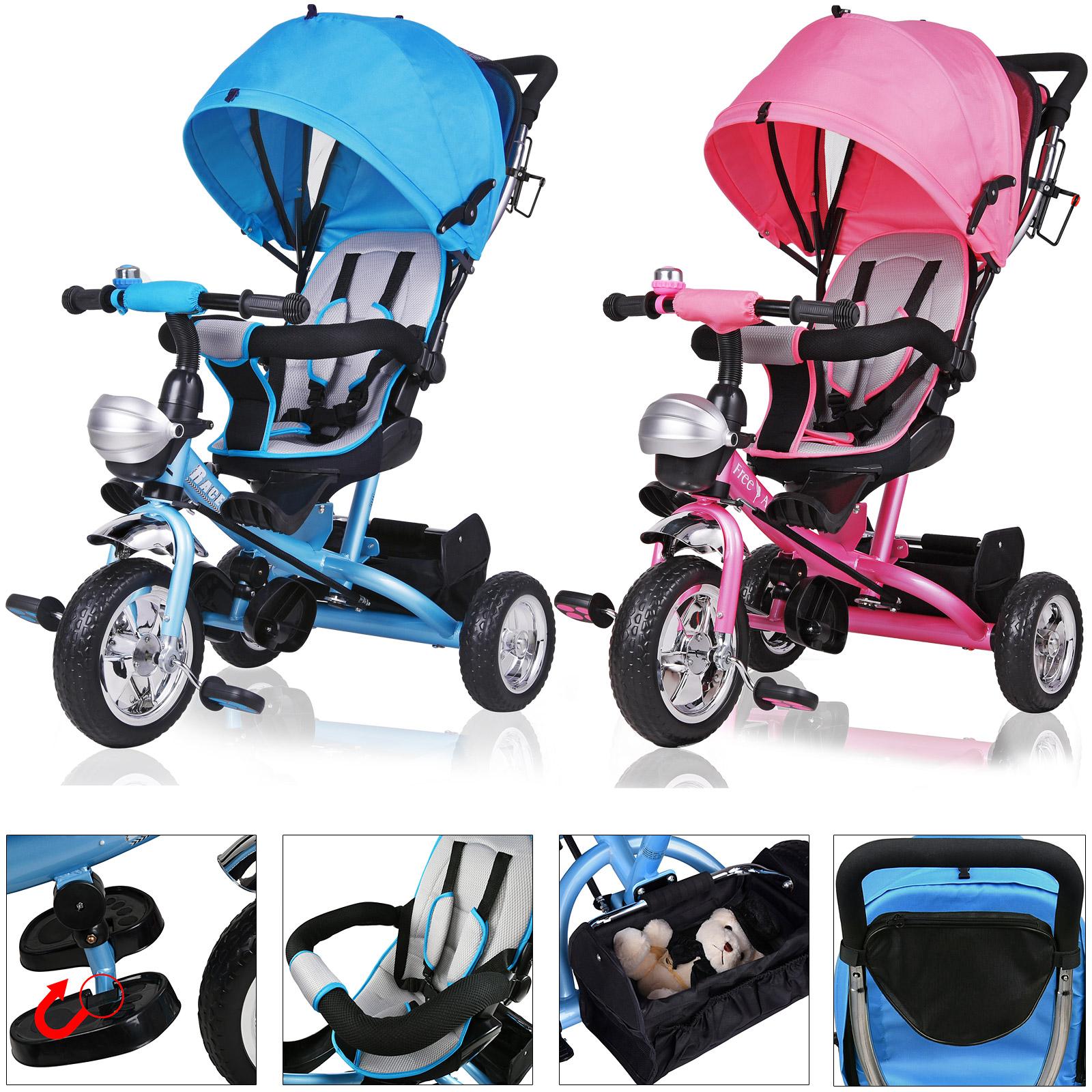 deuba dreirad kinderdreirad kinder lenkstange dach fahrrad baby kinderwagen ebay. Black Bedroom Furniture Sets. Home Design Ideas