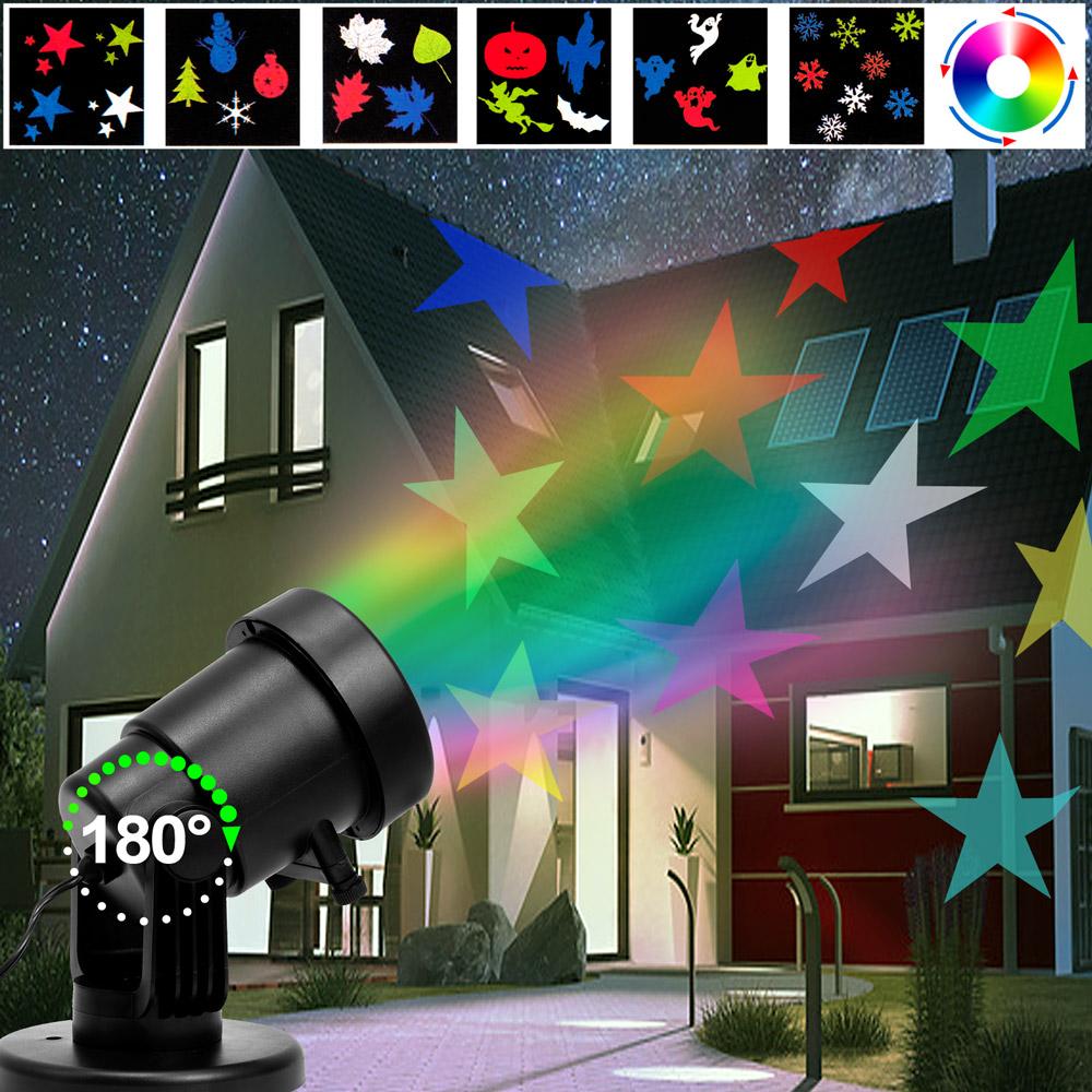 led projektor lampe lichteffekt strahler garten. Black Bedroom Furniture Sets. Home Design Ideas