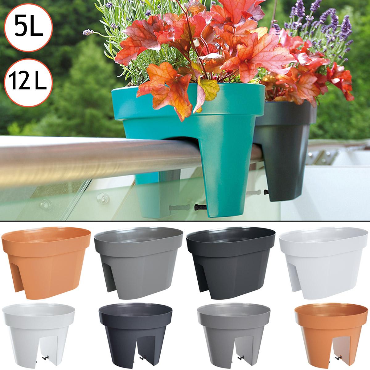 pots de fleurs pour balcon jardini res balustrades 5l ou. Black Bedroom Furniture Sets. Home Design Ideas