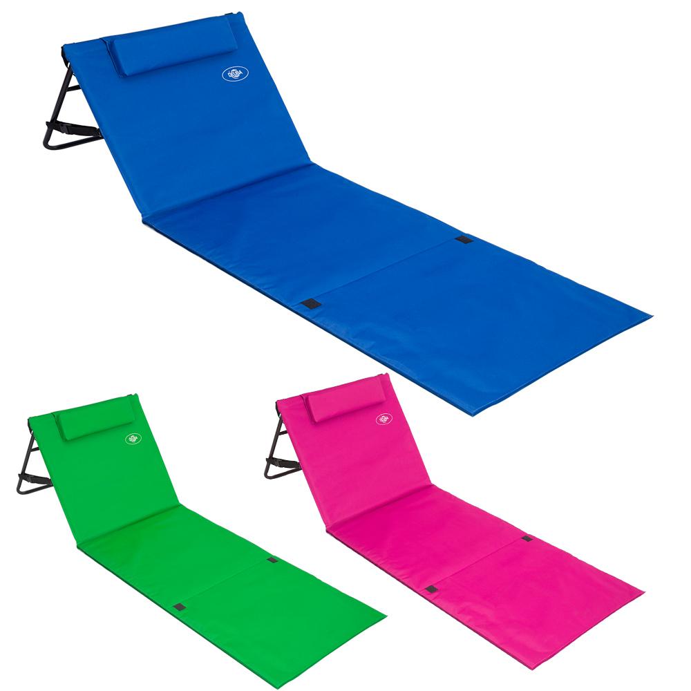 tapis de plage matelas de plage dossier r glable sangle transport 160cm x 54cm ebay. Black Bedroom Furniture Sets. Home Design Ideas