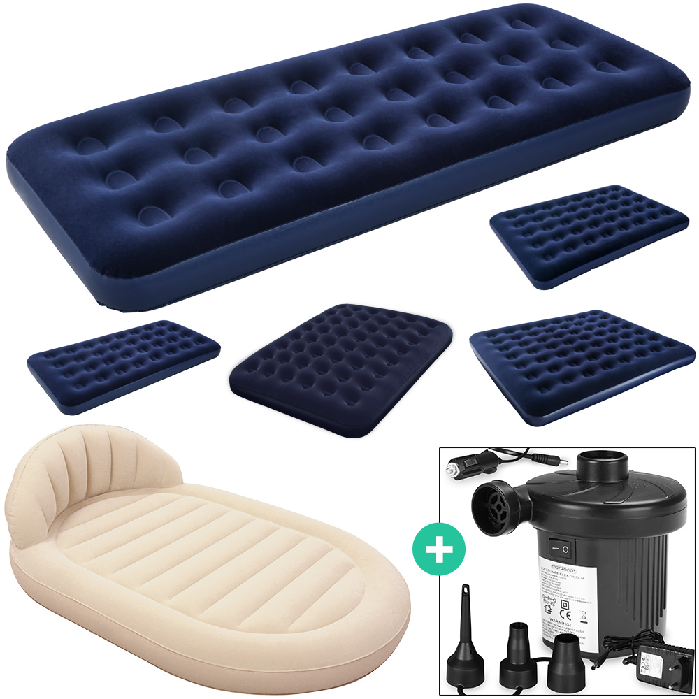 luftmatratze luftbett set inkl elektrische luftpumpe. Black Bedroom Furniture Sets. Home Design Ideas