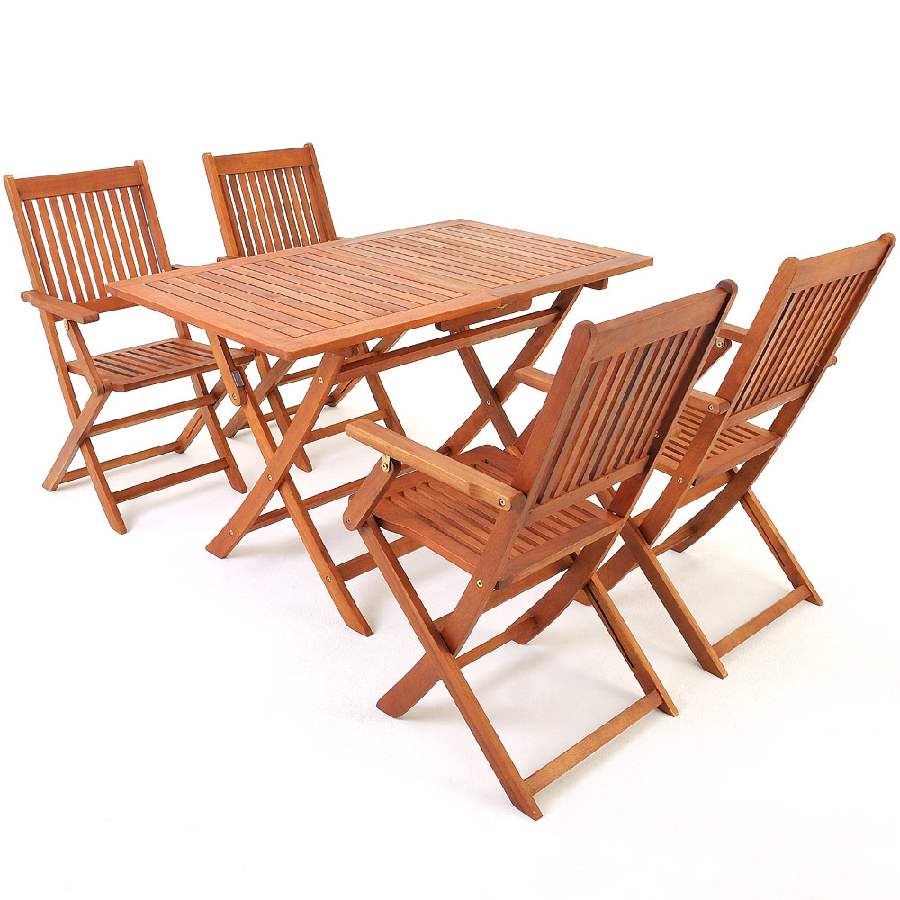 Wooden Table Chairs: Wooden Garden Table & Chairs Set Sydney Acacia Wood