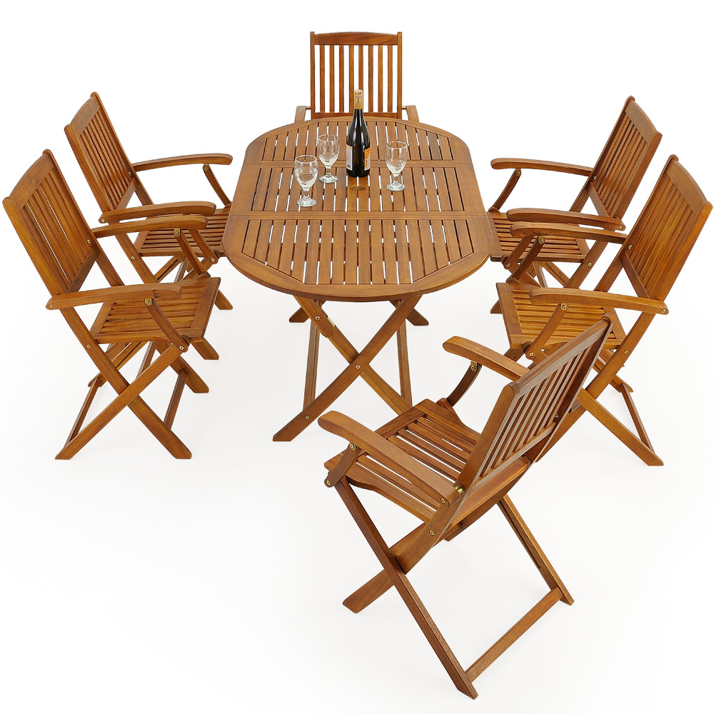 Wooden Garden Furniture Set Boston Table Chairs Patio Wood Outdoor ...