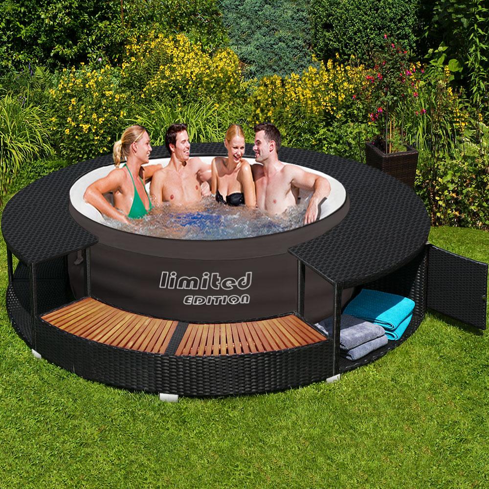 bestway lay z spa whirlpool poolumrandung poolverkleidung rahmen pool ebay. Black Bedroom Furniture Sets. Home Design Ideas