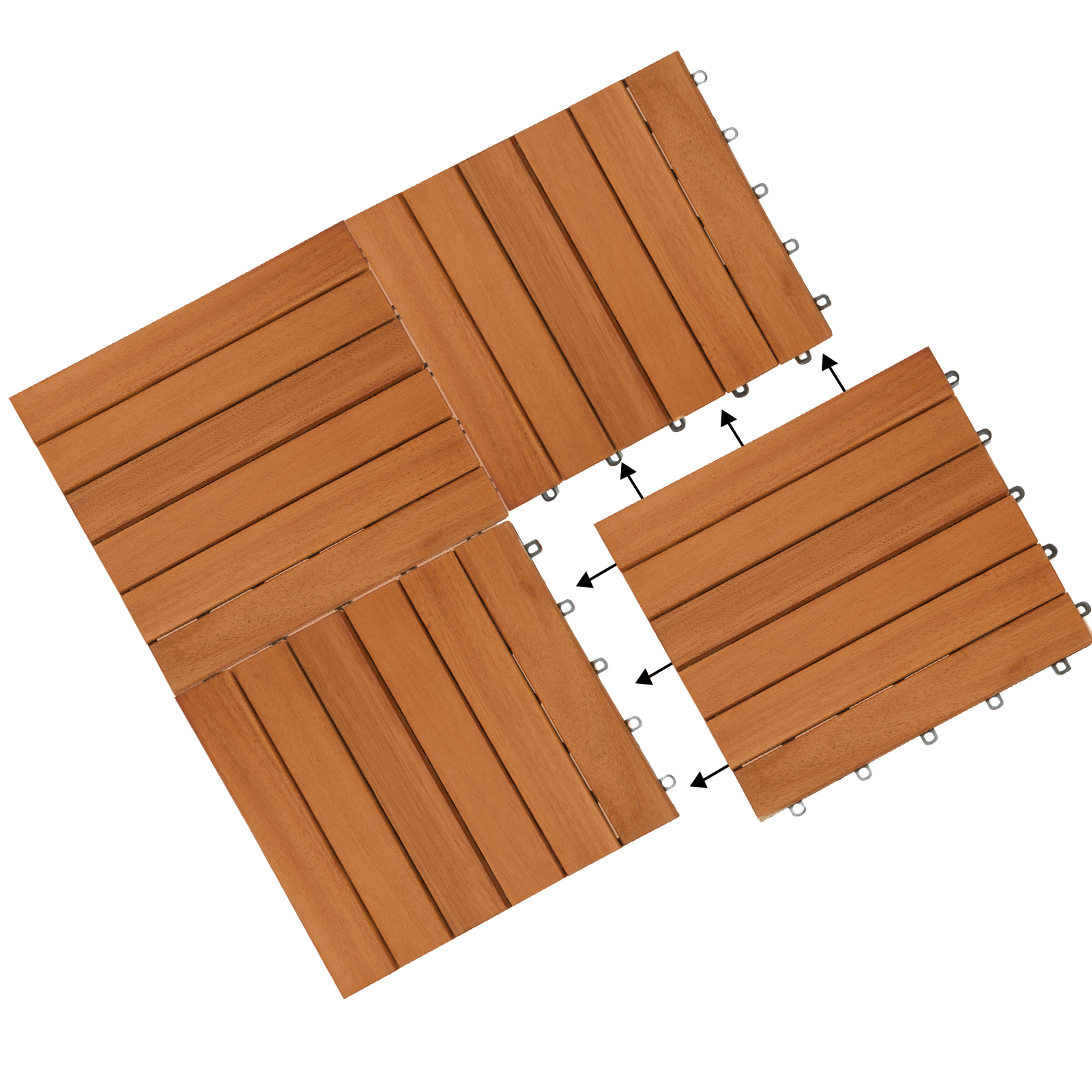 Bois Pour Terrasse Extérieure détails sur 33x dalles de terrasse en bois d'acacia pour 3m² - 30 x 30 cm  jardin extérieur