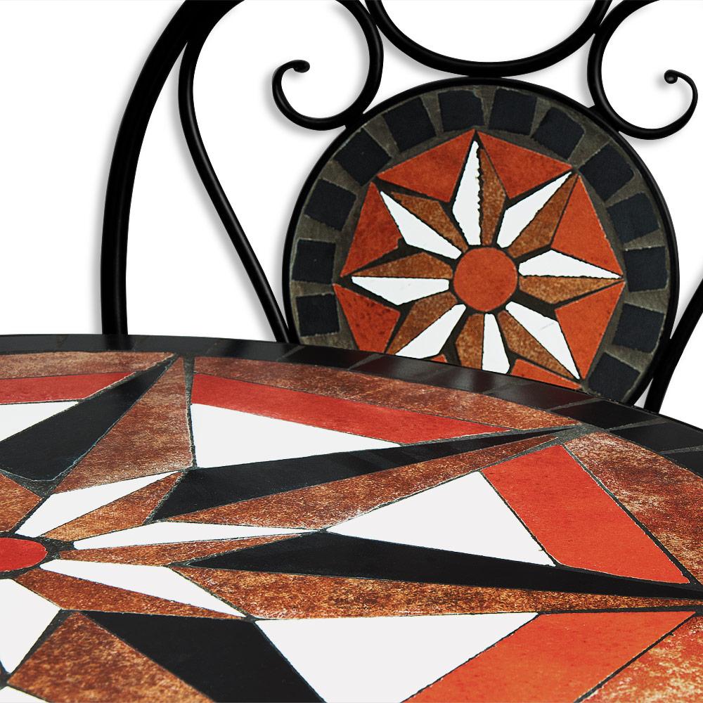 mosaik sitzgarnitur sitzgruppe gartentisch st hle gartenm bel bistrotisch set ebay. Black Bedroom Furniture Sets. Home Design Ideas