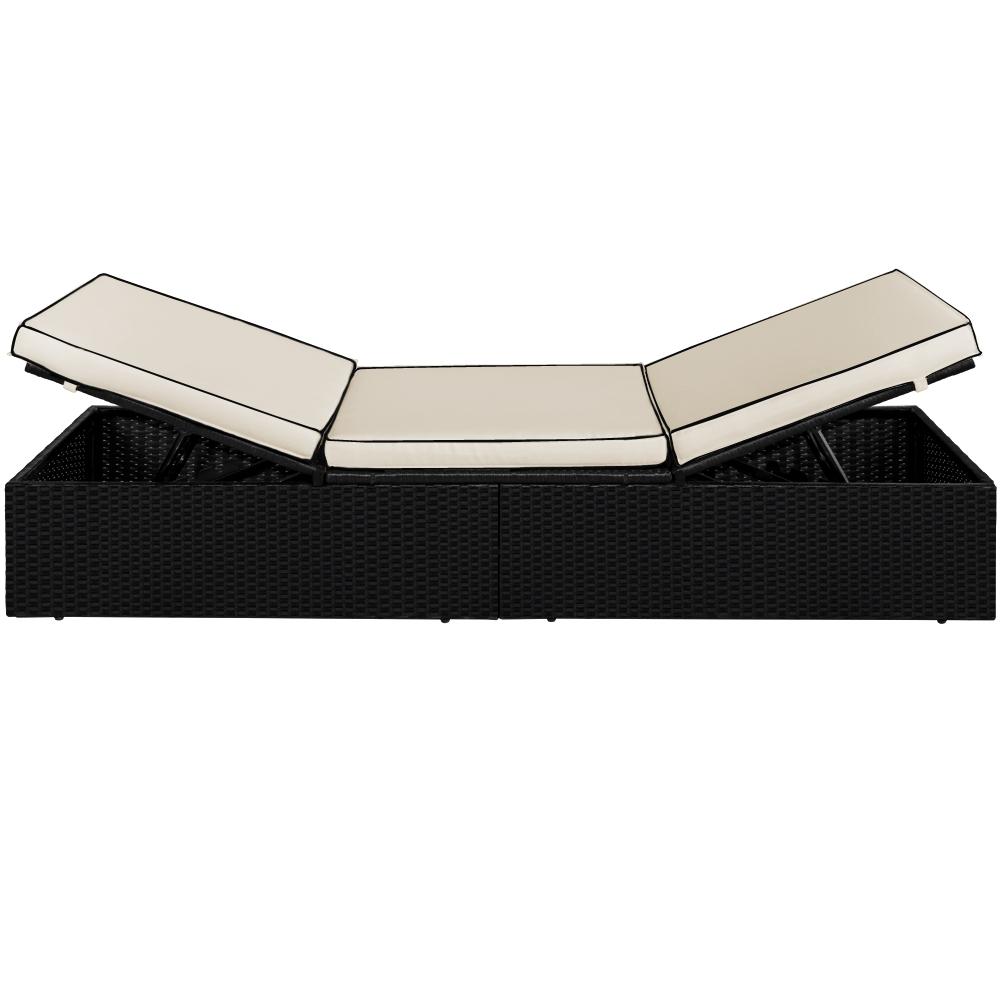 b ware sonnenliege poly rattan liege 195x65 liegestuhl lounge couch gartenliege ebay. Black Bedroom Furniture Sets. Home Design Ideas
