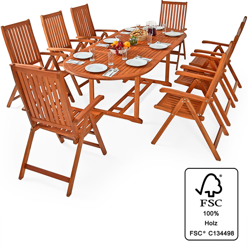Wooden Garden Furniture Set Moreno Dining Table Chairs