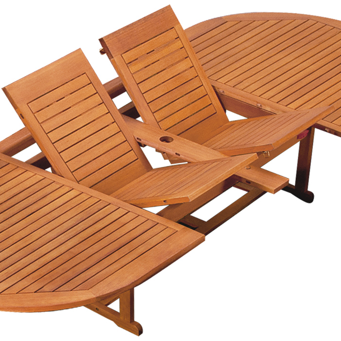 Wooden Garden Furniture Set Moreno Dining Table Chairs Folding 8 Seater Folding Ebay