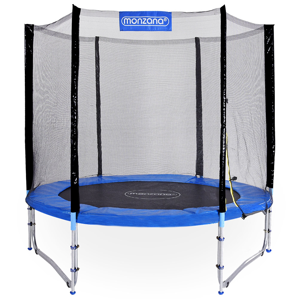 outdoor trampolin gartentrampolin komplettset 244 cm netz zubeh r t v s d gs ebay. Black Bedroom Furniture Sets. Home Design Ideas