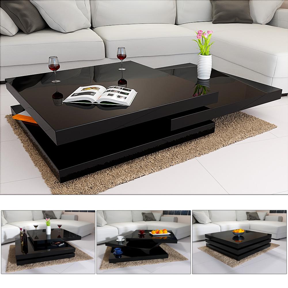 deuba couchtisch hochglanz wei wohnzimmertisch beistelltisch sofa tisch modern ebay