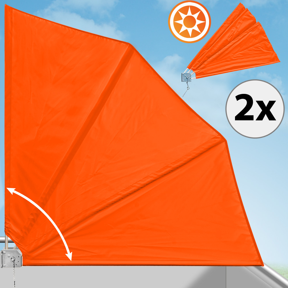 2x Balkonfächer Sichtschutz Windschutz Balkonsichtschutz
