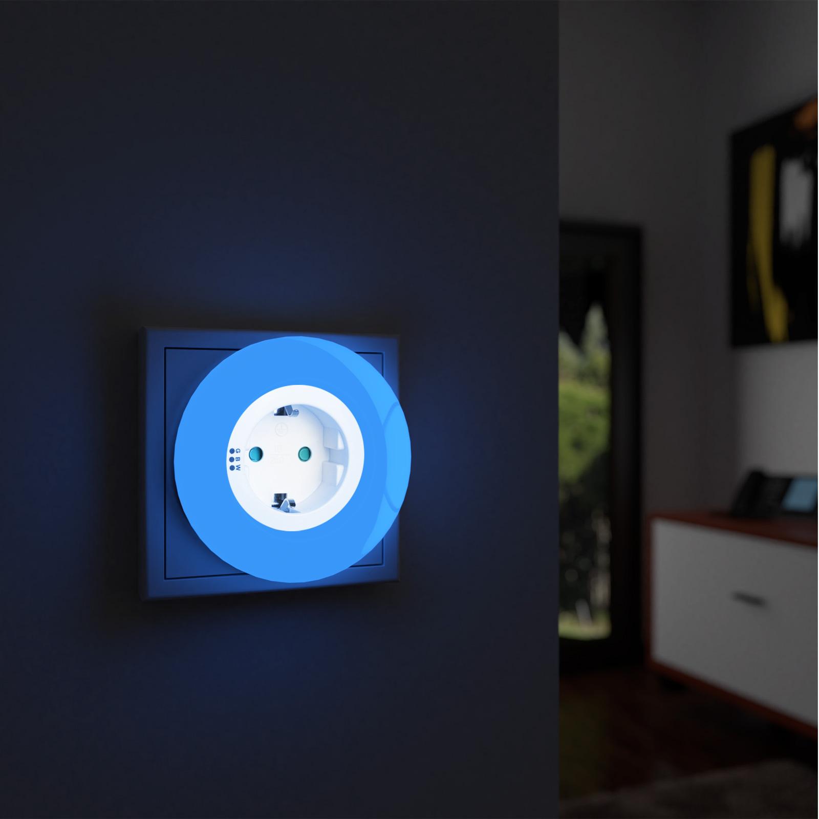 2 veilleuses avec prise lectrique 9x led 3 couleurs s curit pour enfants ebay. Black Bedroom Furniture Sets. Home Design Ideas