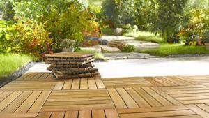 Holz-Terrassenfliesen